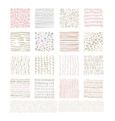Handdrawn Doodle Textures Set vector