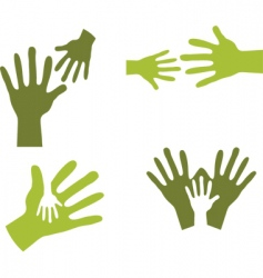 Hands together vector