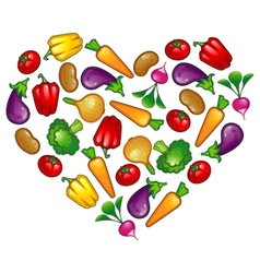 Healthy vegetable heart vector