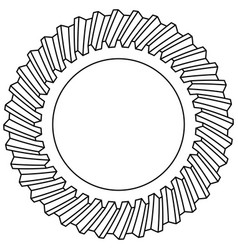 Helical gear icon vector