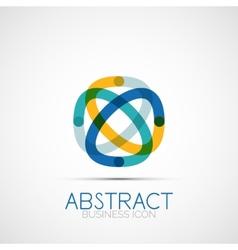 Line design loop logo vector