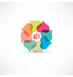 love gifts icon vector image