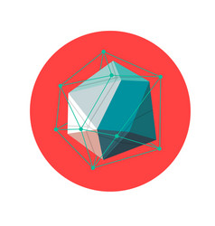 Lowpoly geometric shape vector