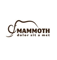 Mammoth outline vector