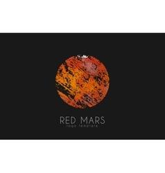 Mars logo red logo planet logo red planet vector