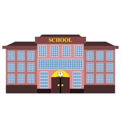 Modern school building flat design vector