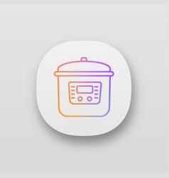 Multi cooker app icon vector