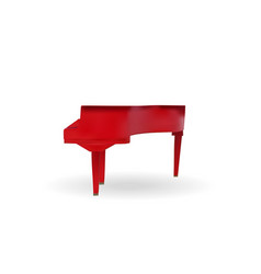 naturalistic red grand piano on white background vector image