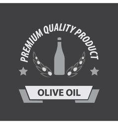 Olive Oil Premium Quality Icon vector image