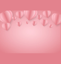 paper elements in shape heart greeting card vector image