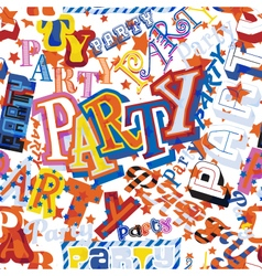 Party seamless tile vector image