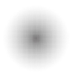 radial halftone on a white background stylish vector image