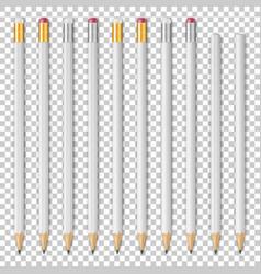realistic white empty wood sharp pencil vector image