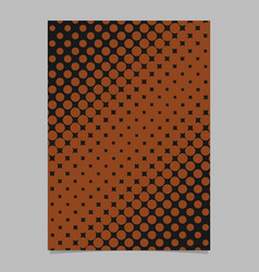 Retro halftone dot background pattern brochure vector