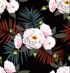 rose seamless pattern3 vector image