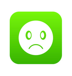 sad emoticon digital green vector image