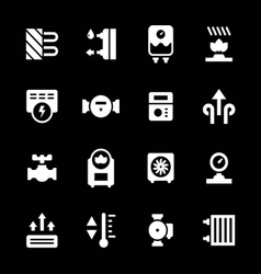 Set icons of heating vector