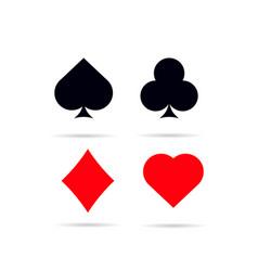 Set of poker card symbols vector