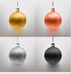 Set realistic christmas toy vector