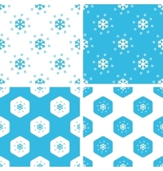 Snow patterns set vector