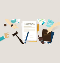 subpoena ordering a person to attend a court vector image