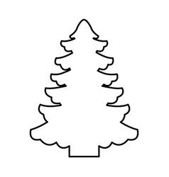 Tree pine christmas icon vector