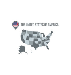 usa map with flag in map pin infographics vector image
