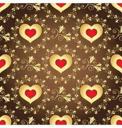 Valentine seamless brown pattern vector image vector image