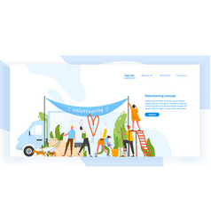 website template with group men and women vector image