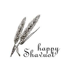 Wheat and ten commandments concept of judaic vector