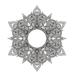 Zentangle stylized Round Indian Mandala Hand drawn vector
