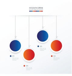 circle hanging concept blue red color vector image vector image