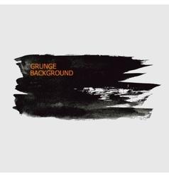 Grunge background black watercolor brush stroke vector image