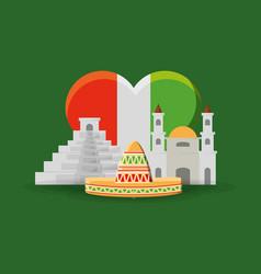 mexico concept design vector image vector image