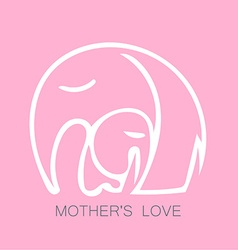 mom love logo vector image