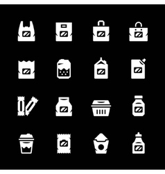 Set icons of package vector image vector image