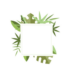square frame with place for text and green vector image