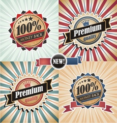 Vintage Quality Guarantee Labels vector image