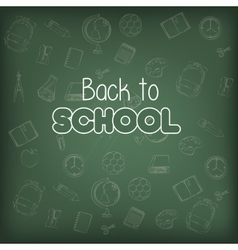 back to school seamless graphic vector image