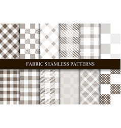 collection of textile seamless patterns vector image