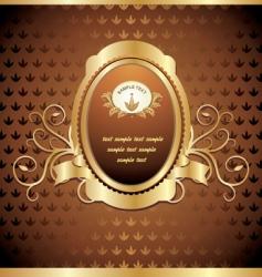 gold emblem vector image vector image
