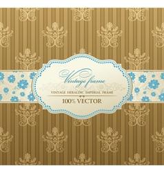 invitation vintage label vector frame vector image vector image