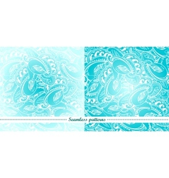 Set of 2 abstract seamless patterns vector image