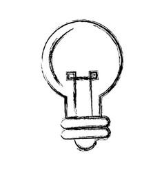 cartoon bulb light creativity illumination vector image