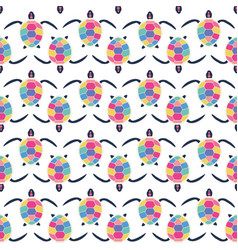 cute multicolor seamless pattern of stylized vector image vector image