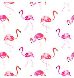 hand drawn pink flamingo bird seamless pattern vector image vector image