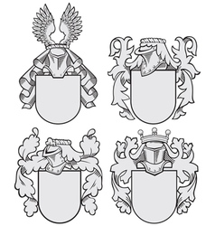 set of aristocratic emblems No9 vector image