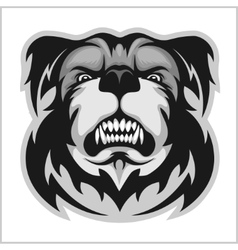 Bulldog Mascot Cartoon Face vector image