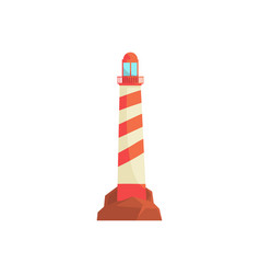 lighthouse ocean beacon searchlight tower for vector image