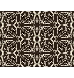seamless vintage heraldic wallpaper black backgrou vector image vector image
